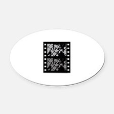 French Cinema Film Oval Car Magnet