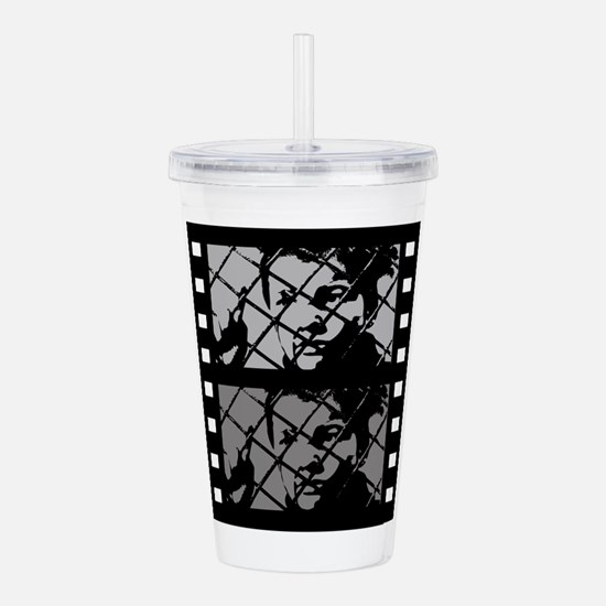 French Cinema Film Acrylic Double-wall Tumbler