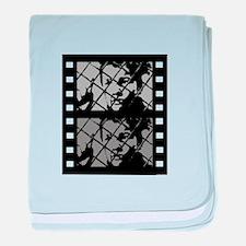 French Cinema Film baby blanket