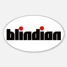 Blindian Oval Decal