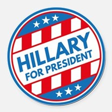 Hillary For President Round Car Magnet