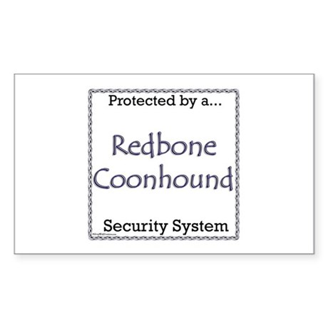 Coonhound Security Rectangle Sticker