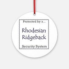 Ridgeback Security Ornament (Round)