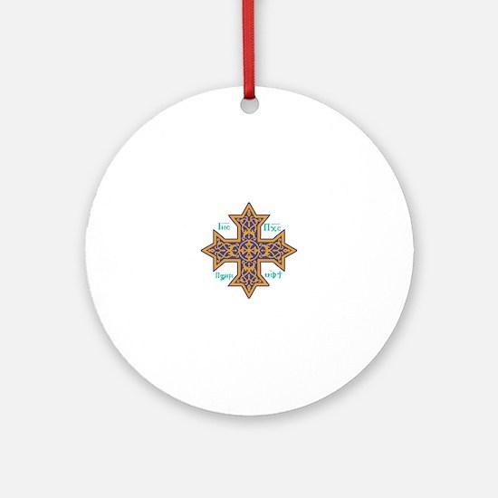 Coptic Cross Round Ornament