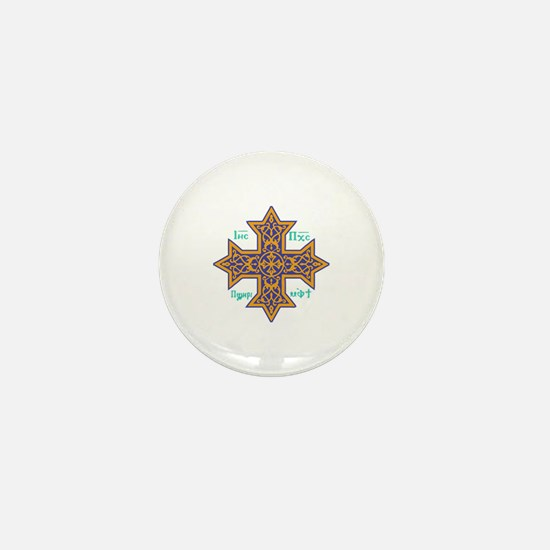 Coptic Cross Mini Button