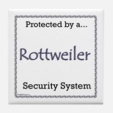 Rottweiler Security Tile Coaster