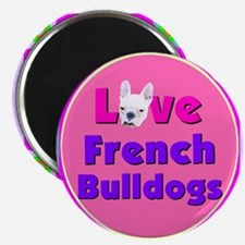 Cute French bulldog lovers Magnet