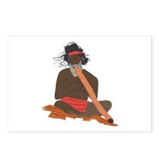 Didgeridoo Player Postcards (Package of 8)