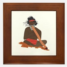 Didgeridoo Player Framed Tile