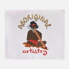 Aboriginal Artistry Throw Blanket