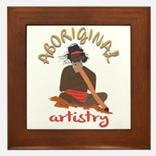 Aboriginal Artistry Framed Tile
