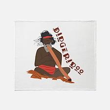 Didgeridoo Throw Blanket