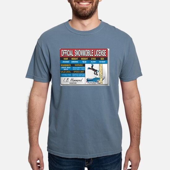 Snowmobile License tee T-Shirt