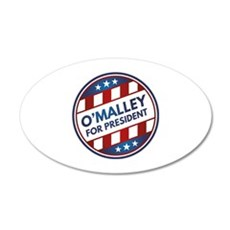 O'Malley For President 22x14 Oval Wall Peel