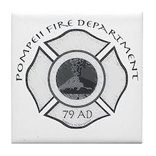 Pompeii Fire Department Tile Coaster