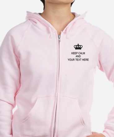 Personalized Keep Calm Zipped Hoody