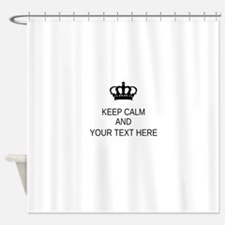 Personalized Keep Calm Shower Curtain