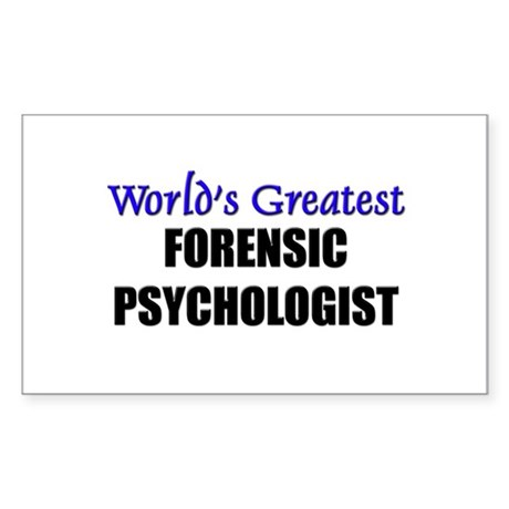 Worlds Greatest FORENSIC PSYCHOLOGIST Sticker (Rec