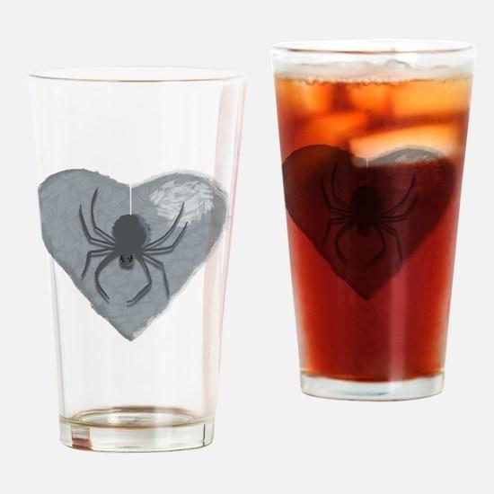 Stoneheart Halloween spider Drinking Glass
