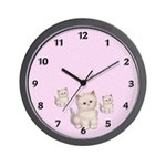 Three Kitties Wall Clock