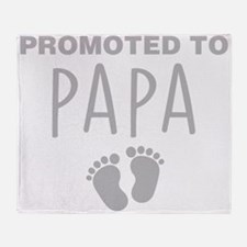 Promoted To Papa Throw Blanket