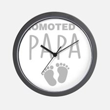 Promoted To Papa Wall Clock