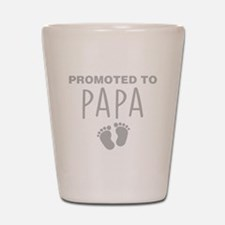Promoted To Papa Shot Glass