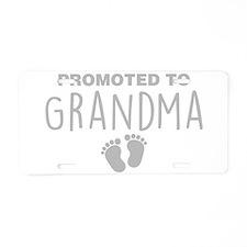 Promoted To Grandma Aluminum License Plate