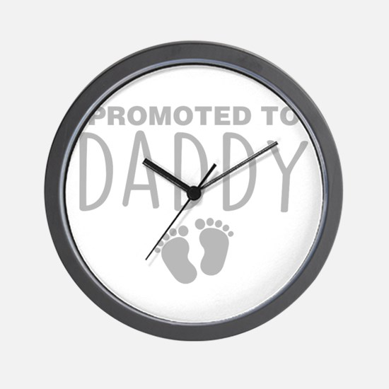 Promoted To Daddy Wall Clock