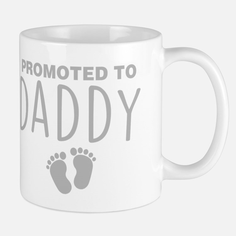 Promoted To Daddy Mugs