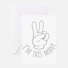 Im This Many Two Greeting Cards