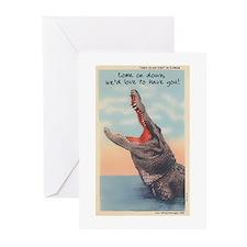 Alligator Invitation Greeting Cards (Pk of 10)