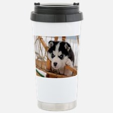 Husky puppy 2 Stainless Steel Travel Mug