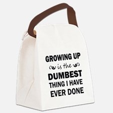 GROWING UP Canvas Lunch Bag