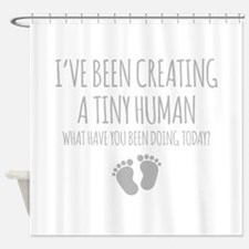 Ive Been Creating A Tiny Human Shower Curtain