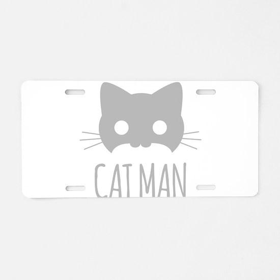 Cat Man Aluminum License Plate