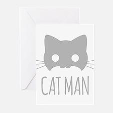 Cat Man Greeting Cards