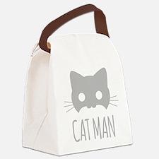 Cat Man Canvas Lunch Bag