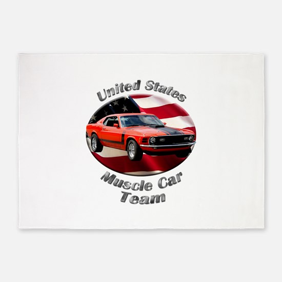Ford Mustang Boss 351 5`x7`Area Rug