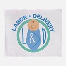 Labor And Delivery Throw Blanket