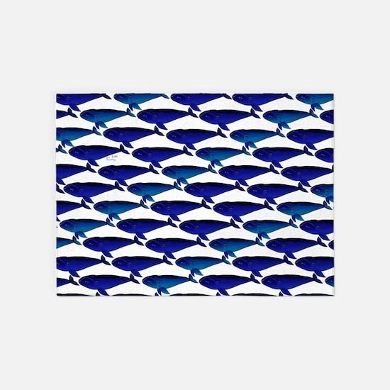Bowhead Whale Pattern 5'x7'Area Rug