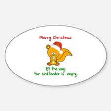 MERRY CHRISTMAS SQUIRREL - YOUR BIR Decal