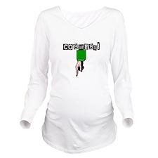 Funny Elizabeth Long Sleeve Maternity T-Shirt