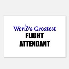 Worlds Greatest FLIGHT ATTENDANT Postcards (Packag