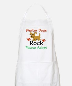 Shelter Dogs Rock Please Adopt Apron