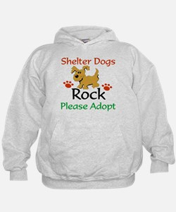 Shelter Dogs Rock Please Adopt Hoodie
