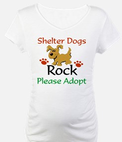 Shelter Dogs Rock Please Adopt Shirt