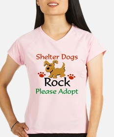 Shelter Dogs Rock Please Adopt Performance Dry T-S