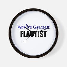 Worlds Greatest FLAUTIST Wall Clock