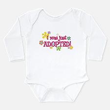 Funny Adoption Long Sleeve Infant Bodysuit